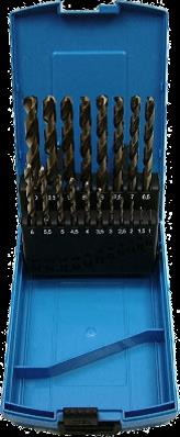 19 Piece Cobalt Alloyed HSS Drill Bit Set