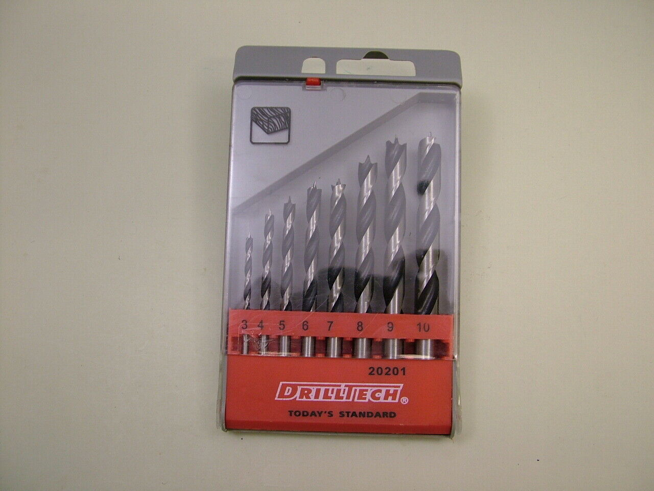 Lip And Spur Wood Drill Set 8 Sizes 3mm-10mm