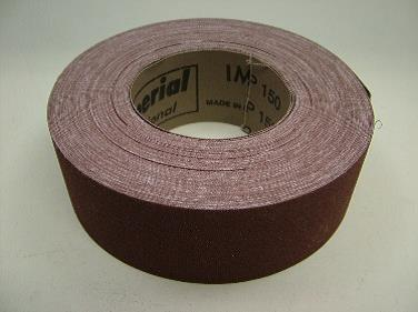 Emery cloth rolls made in Italy. 50mm wide, 25 metre rolls