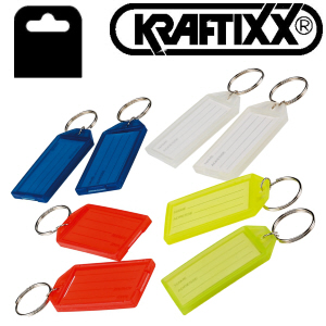 Key Tags (Pack of 12) Assorted colours