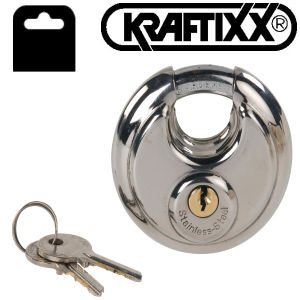 Stainless Steel Disc Padlock, 70mm