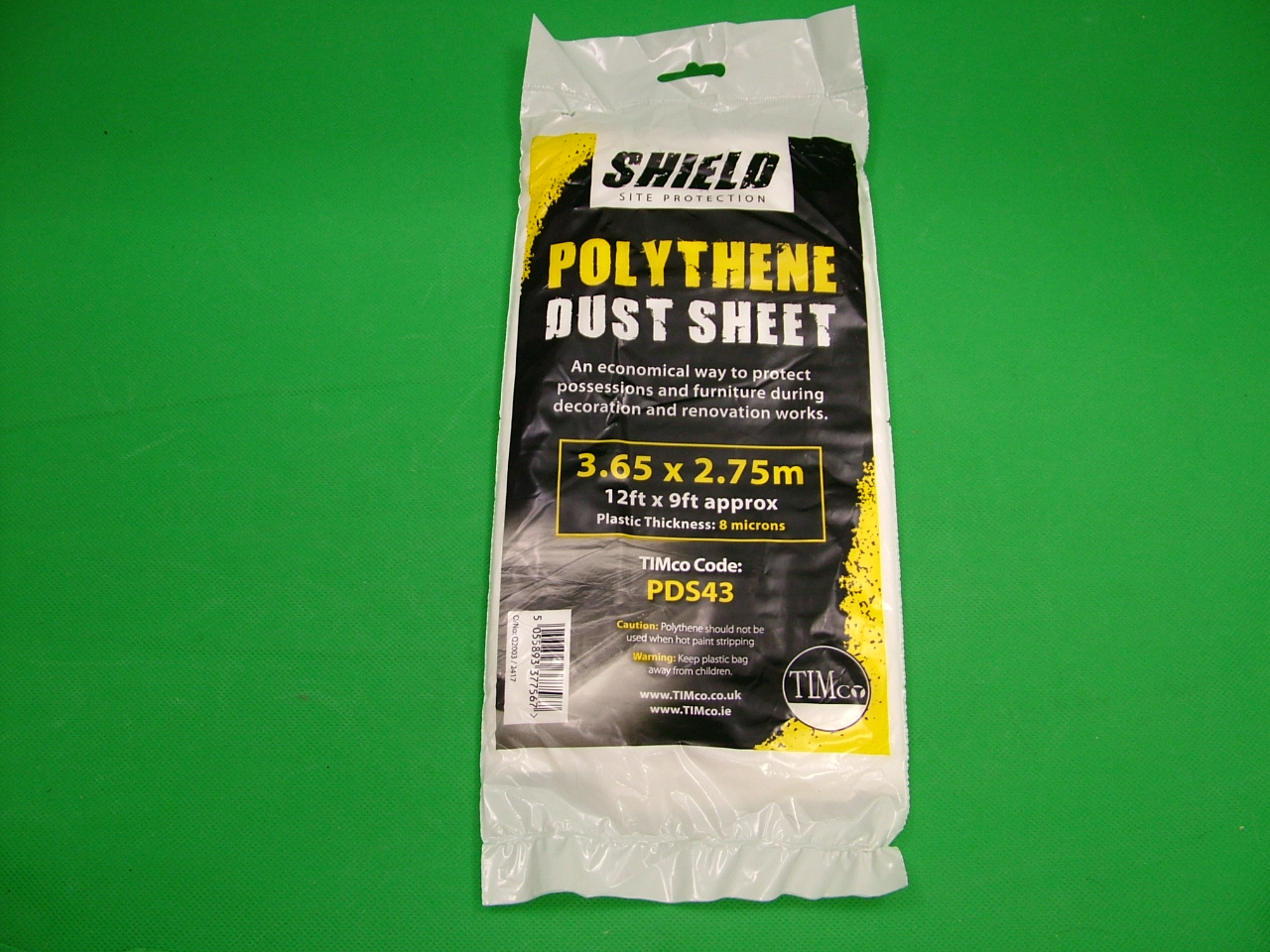 Disposable polythene dust sheets