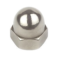 Dome Nuts, Steel BZP - Metric