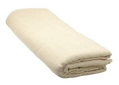 Poly Lined Cotton Twill Dust Sheet 2.7m x 3.66m (9 x 12ft)