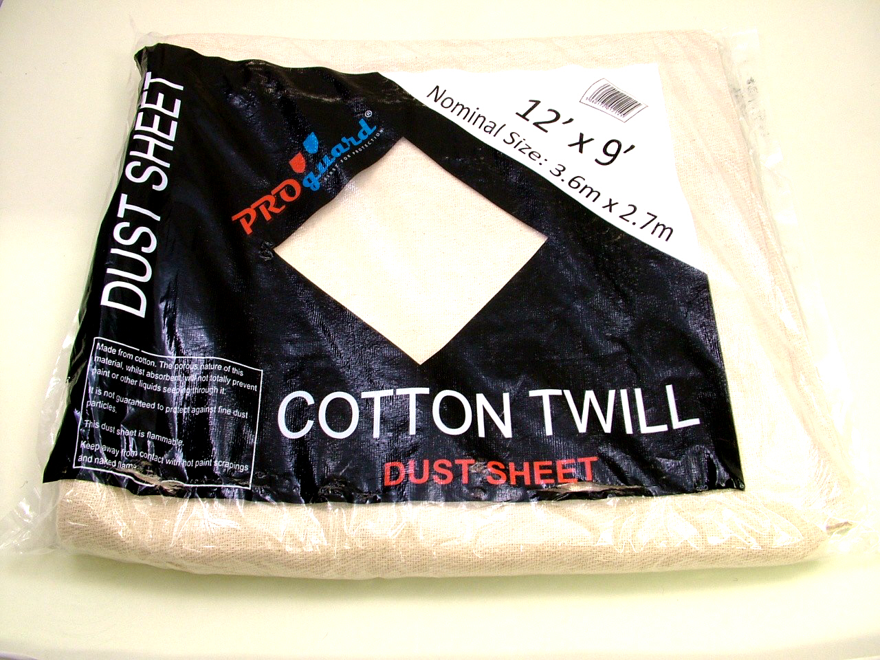 Cotton Twill Staircase Dust Sheet 7.2m x 0.9m (24 x 3ft)