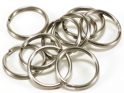 Split Rings (Key Rings) Nickel Plated 20mm