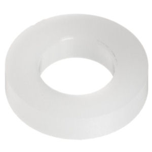 Plastic Washers, White Nylon M4