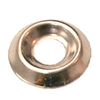 Brass Screw Cups, Nickel Plated No.9/10