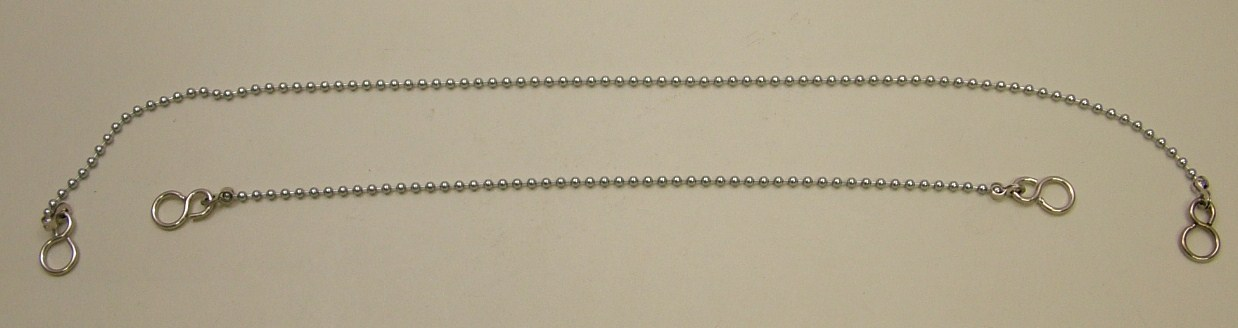 12 inch 300mm Sink chain silver NEW LINE