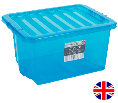 Stacking Storage Box, 35 Litre (Blue)