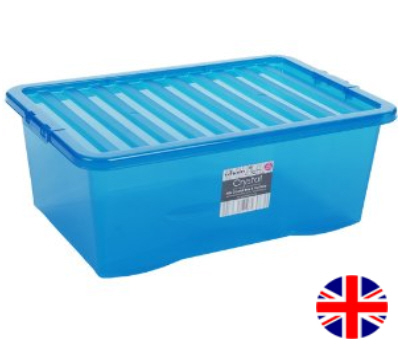 Stacking Storage Box, 45 Litre (Blue)