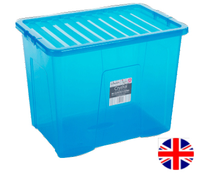 Stacking Storage Box, 80 Litre (Blue)