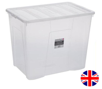 Stacking Storage Box 80 Litre (Clear)  sc 1 th 210 : 80 ltr storage boxes  - Aquiesqueretaro.Com