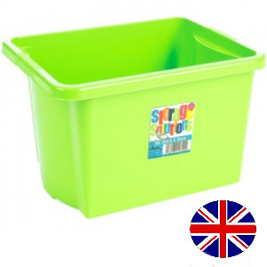 Stacking Storage Box, 30 Litre (Lime Green)